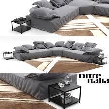 3d model corner sofa ditreitalia flick flack cgtrader