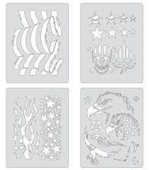 artool freehand airbrush templates patriotica mini series