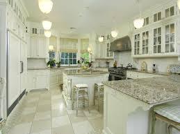 white kitchen cabinets granite countertop white galley galley