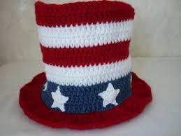 crochet pattern american flag hat july 4th top hat american