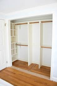 Curtains As Closet Doors Replacing Bi Fold Closet Doors With Curtains Our Closet Makeover