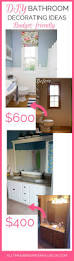 bathroom diy ideas bathroom decorating ideas the best budget friendly ideas