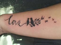 love birds word tattoo creativefan