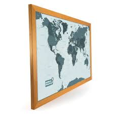 Framed World Map by World Map Pinboard With Write On Wipe Off Surface Choice Of