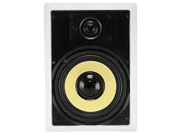 home theater wall speakers caliber in wall speakers 8in fiber 2 way pair monoprice com