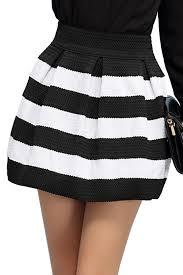 high waisted skirts high waist striped skirt oasap