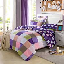 Ruffle Bed Set Purple Ruffle Bedding Set Tokida For