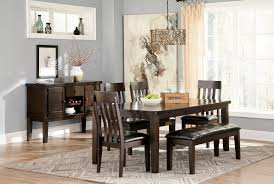 interior dining table with bench and chairs kitchen tables and