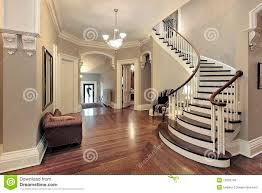 foyer with curved staircase royalty free stock photos image