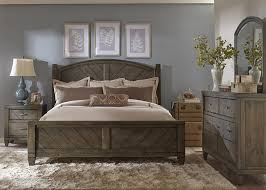liberty furniture modern country casual rustic queen bed with