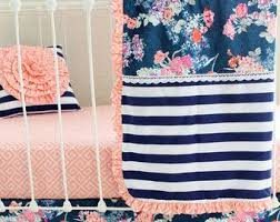 Custom Girls Bedding by Best 25 Navy And Coral Bedding Ideas On Pinterest Navy Coral