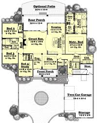 houseplans com country farmhouse main floor plan plan 430 49