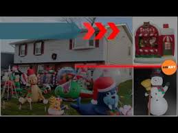 Christmas Decorations Outdoor Inflatable by Outdoor Xmas Decorations Inflatable Christmas Decorations Youtube
