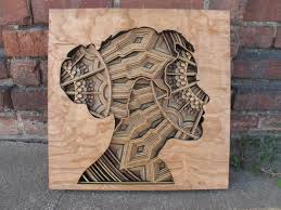 laser cut wood relief sculptures by gabriel schama