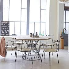 table ronde pour cuisine table ronde à pied filaire métal lina merveilleux deco cuisine