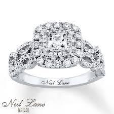 glamorous neil lane rings at kays jewelers kay neil lane engagement ring 1 1 8 ct tw diamonds 14k white gold
