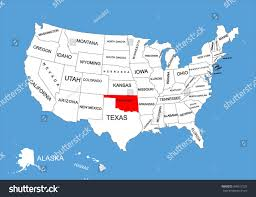 State Map Blank by Oklahoma State Usa Vector Map Isolated Stock Vector 309617225