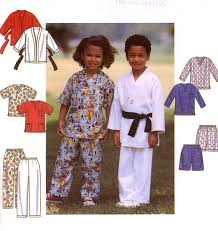 Kung Fu Halloween Costume Kids Kung Fu Martial Arts Karate Costume Sewing Pattern