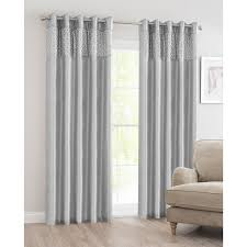Black Eyelet Curtains 66 X 90 316576 316578 Silver Jpg