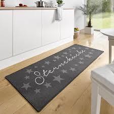 läufer für küche design velours küchenläufer sterneküche grau 67x180 cm 102369