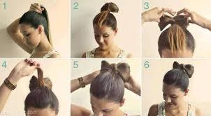 hair bow with hair diy hair bow bun pictures photos and images for