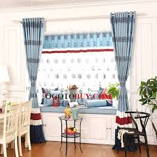 Blue And Yellow Curtains Prints Blue And Red Kids Curtains Classic Mediterranean Window Panels