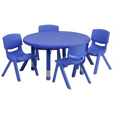 Activity Table For Kids Furniture Blue Plastic Kids Activity Table Set Design For Kids