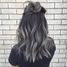 gray hair streaked bith black fanola hair color on instagram janet nguyen