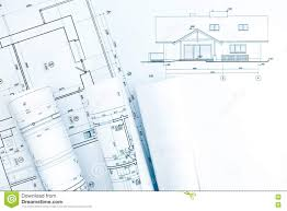 drawing house plans free architectural technical drawings with house plan stock photo
