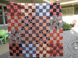 modern cozy finish it up friday halloween quilt top