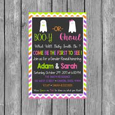 gender reveal invitation template halloween gender reveal party invitation boo y or ghoul