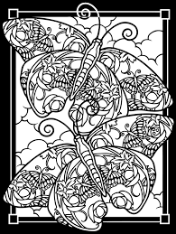 free printable stained glass coloring pages butterfly pattern