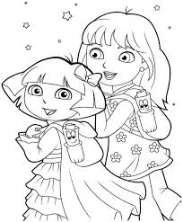 dora coloring pages for toddlers virtren com