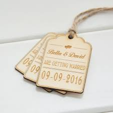 favor tags save the date wood card 50 rustic wood favor tags wedding favor