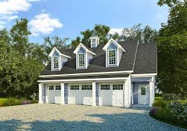 Carriage House Building Plans 3 Car Carriage House Plan With 3 Dormers 36058dk Architectural