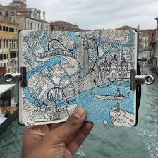 Venice Italy Map City Day Trip Map Drawing Of Venice Italy Mymoleskine Community