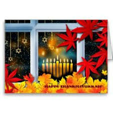 card for thanksgiving and hanukkah thankgivukkah thanksgiving