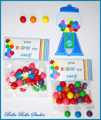 gumball party favors rainbow gum birthday party instant printable