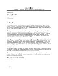 customer service cover letter in retail nursing cover letter