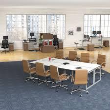 Deep Office Desk Alera Open Office Desk Series Adjustable O Leg Desk Base By Alera