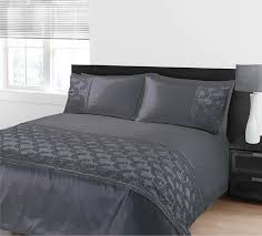 kliving double bed zara duvet set grey amazon co uk kitchen u0026 home