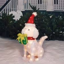 Christmas Yard Decorations Dog by Lighted Christmas Decorations 36