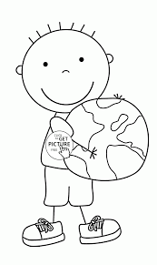 keep the earth clean and green earth day coloring page for kids