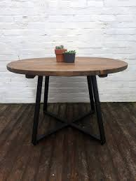 round tapered x frame dining table industrial style furniture