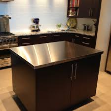 White Kitchen Island With Stainless Steel Top by Countertops Stainless Stainless Steel Countertops And Undermount