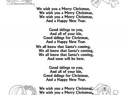 song lyric coloring pages we wish you a merry