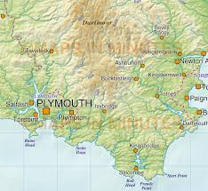 Plymouth England Map by South West England County Map With Regular Relief 1 000 000 Scale