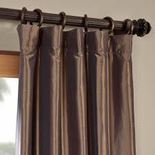 mushroom blackout faux silk taffeta curtains drapes