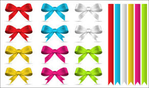 decorative bows decorative ribbon bow vector design royalty free stock image