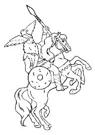 coloriage chevalier gaulois